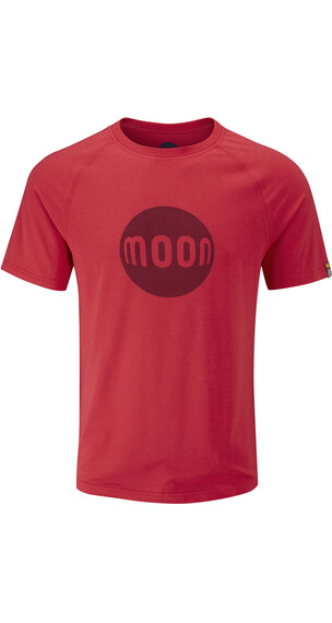 Moon Climbing M's Moon Logo Tech Tee True Red